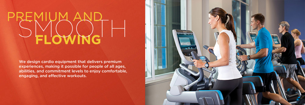Precor designs cardio equipment that delivers premium fitness experiences.  Ellipticals, treadmills, AMTs, and bikes for people of all ages, abilities, and commitment levels.