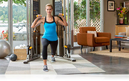 Precor's strength equipment completes your fitness routine.  Create a home gym that perfectly fits the space you have and gives you the strength workout you want.