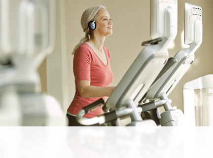 Every Precor Elliptical Fitness Crosstrainer (EFX) provides a natural, low-impact stride, so users can work out longer and harder. Change the angle with a simple push of a button.