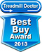#1 Rated Treadmill - Leading Consumer Rating Publication Award