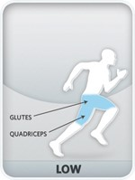 Figure 1 The lowest CrossRamp angle focuses on your glutes and quads