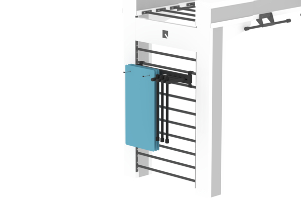 Queenax Horizontal Mat and Bar Shelf Storage Optional