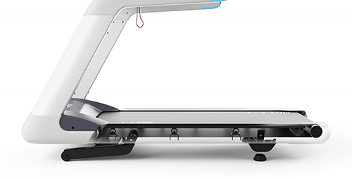 Illustration of the adjustable belt design elements on a Precor treadmill
