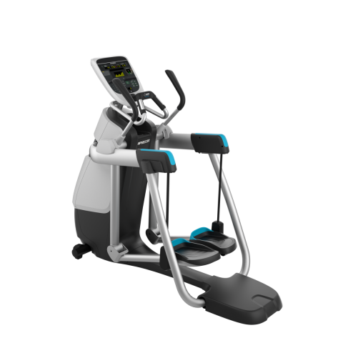 Precor silver AMT 835 Adaptive Motion Trainer with P30 console