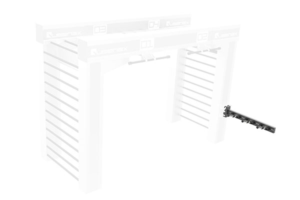 Queenax Lateral Disc Shelf Storage Optional