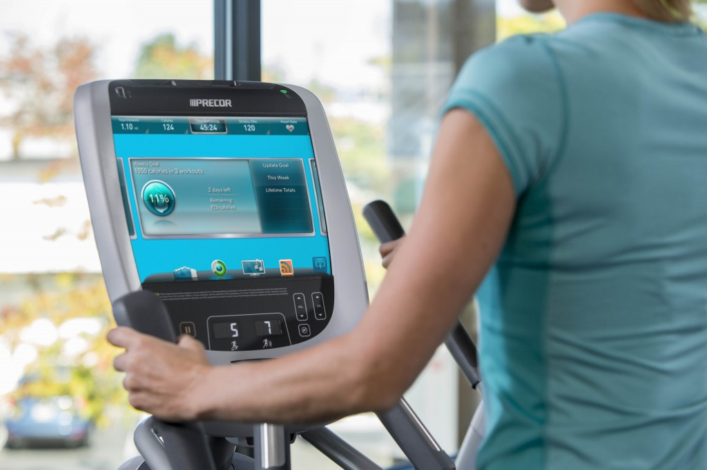 Precor P80 Console Workout