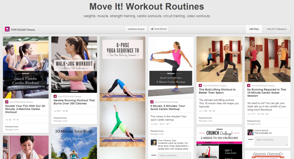 POPSUGAR Pinterest Workout Routines