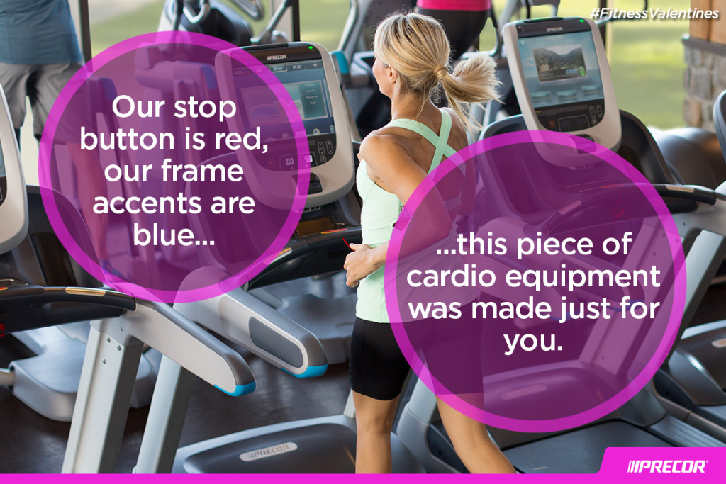 Our stop button is red, our frame accents are blue... this piece of cardio equipment was made just for you. #FitnessValentines