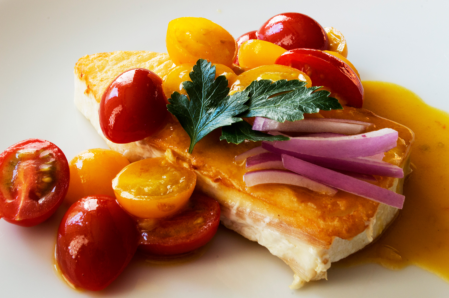 Low-Calorie Pan Seared Halibut