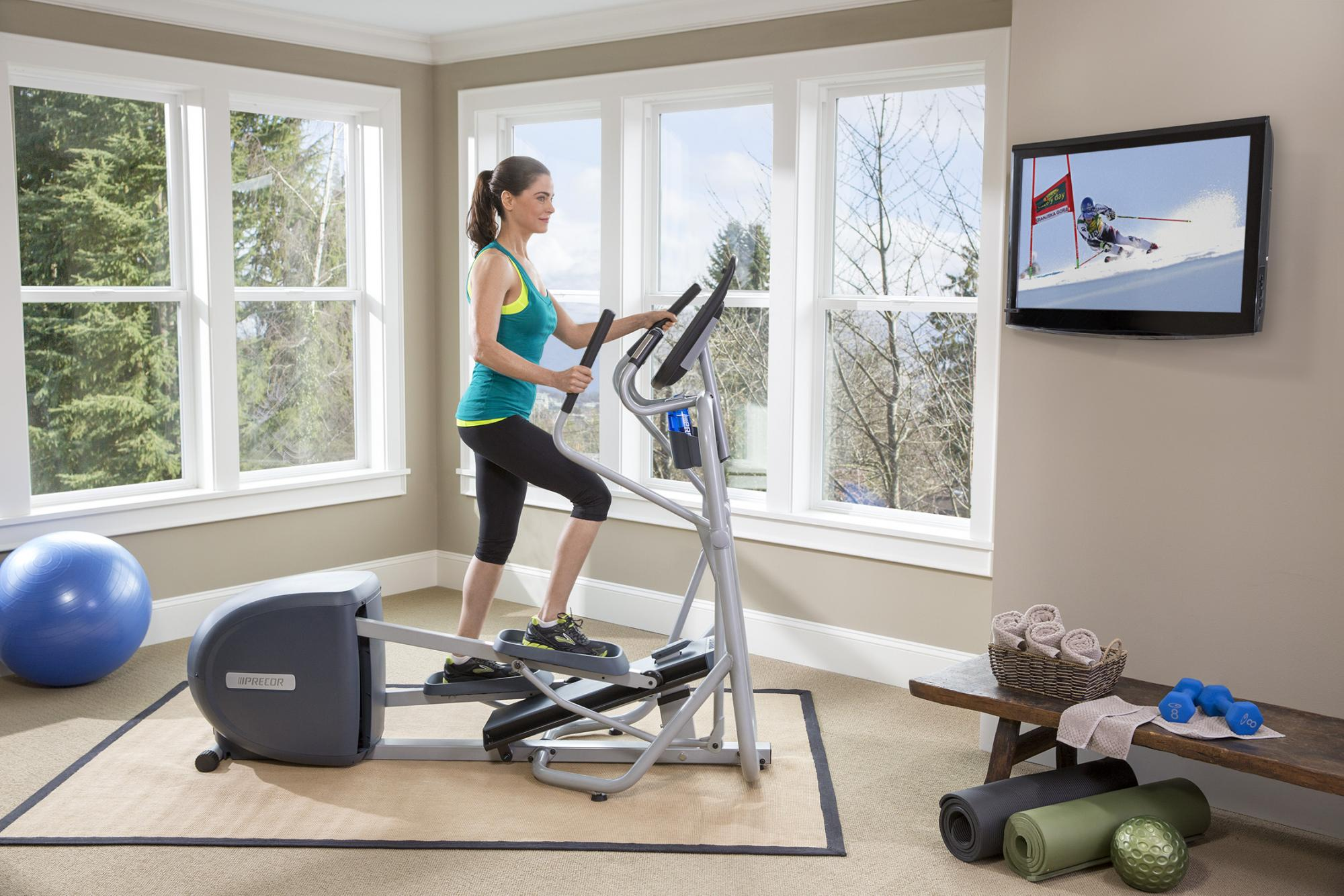Elements of an inspiring home workout zone precor us