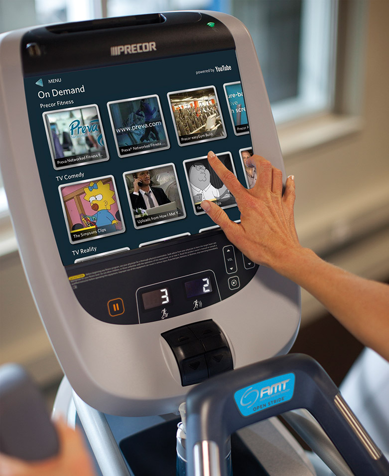 Precor Video on Demand YouTube P80