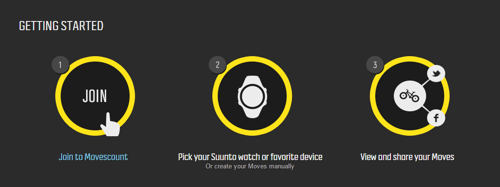 Suunto Movescount Sign Up