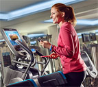 Exerciser on Precor AMT