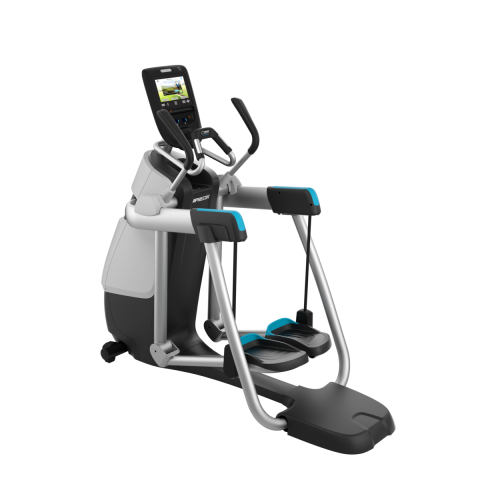 Precor AMT 865 with Open Stride Gloss Metallic Silver Frame