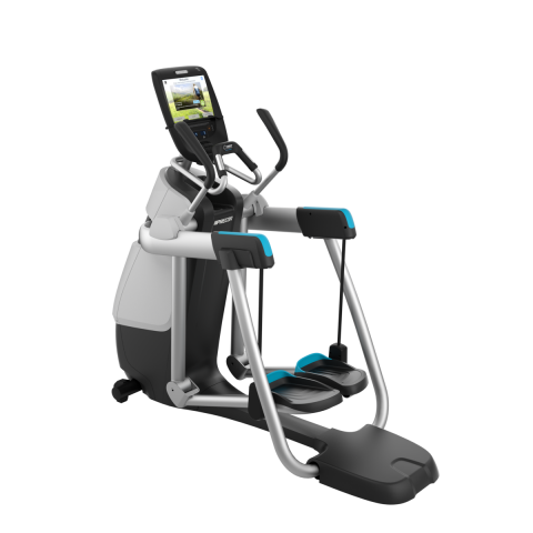 Precor AMT 885 Gloss Metallic Silver Frame