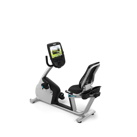 RBK 885 Recumbent Bike Gloss Metallic Silver Frame