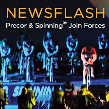 Precor® and Spinning® join forces to produce brand new line of Spinner® indoor cycling equipment