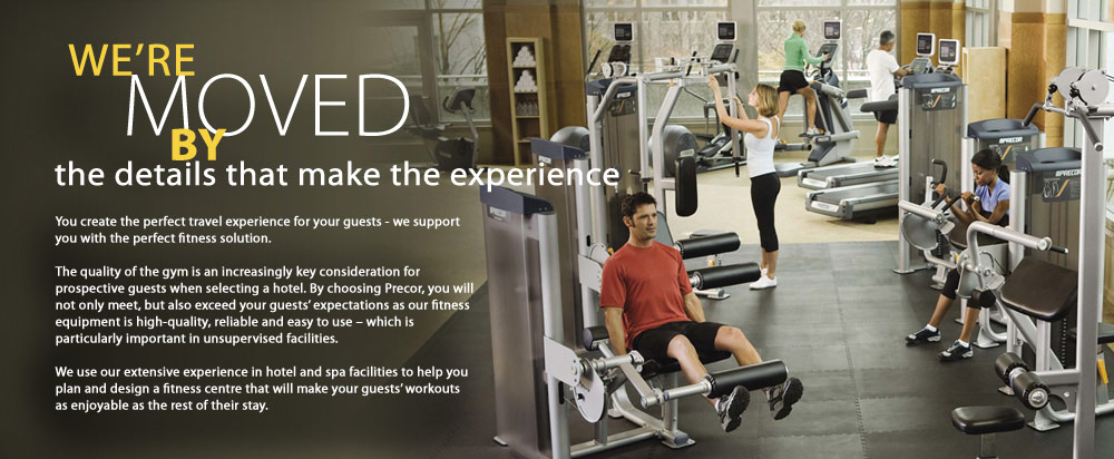 Hotel gym equipment precor for Equipement hotel