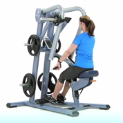 Precor Wide Grip Plate Loaded Low Row