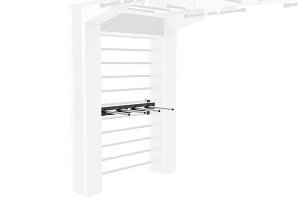 Queenax Horizontal Dumbbell Shelf Storage Optional