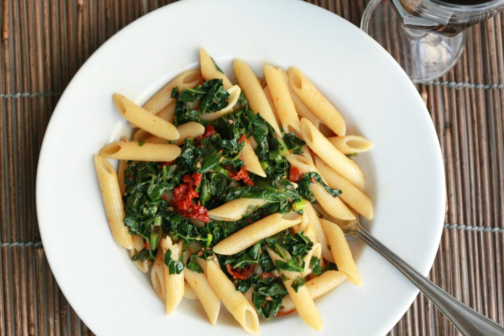 Kale and Whole Wheat Pasta