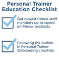 Personal Trainers Education Checklist
