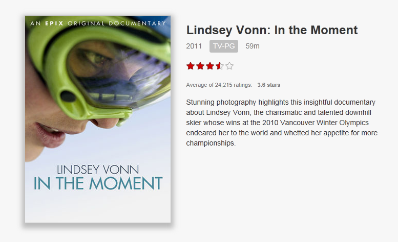 Lindsey Vonn In the Moment Netflix