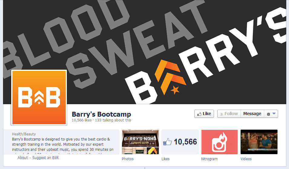 Barry's Bootcamp Facebook