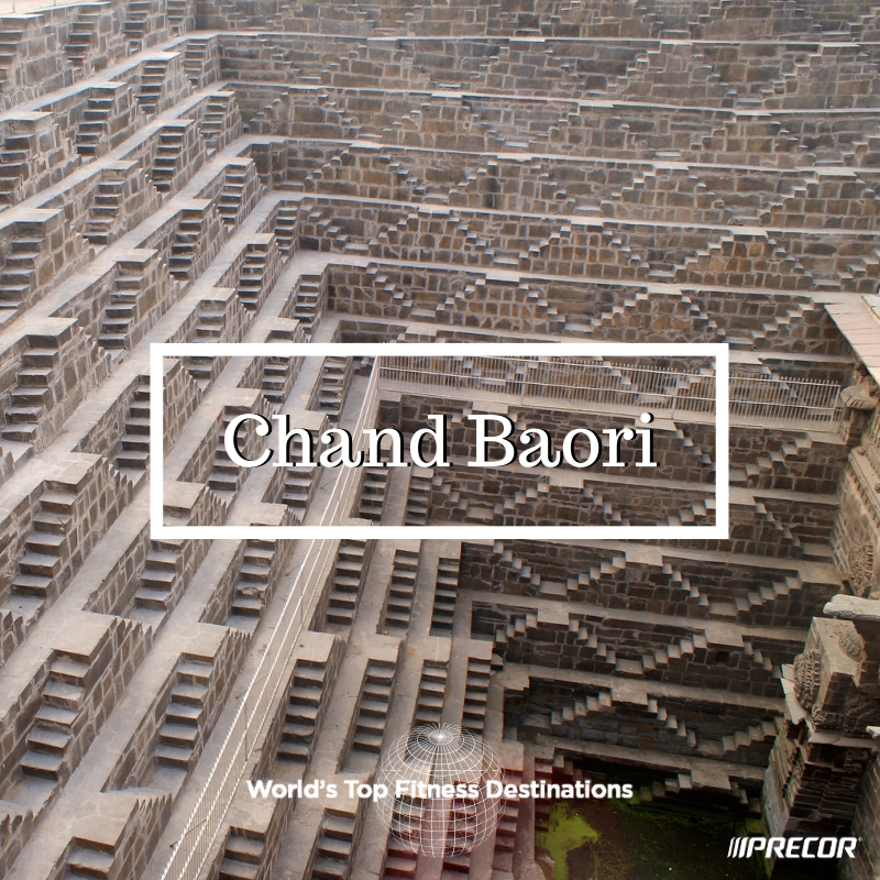 Chand Baori fitness destination. Photo courtesy of Flickr user Ramón.
