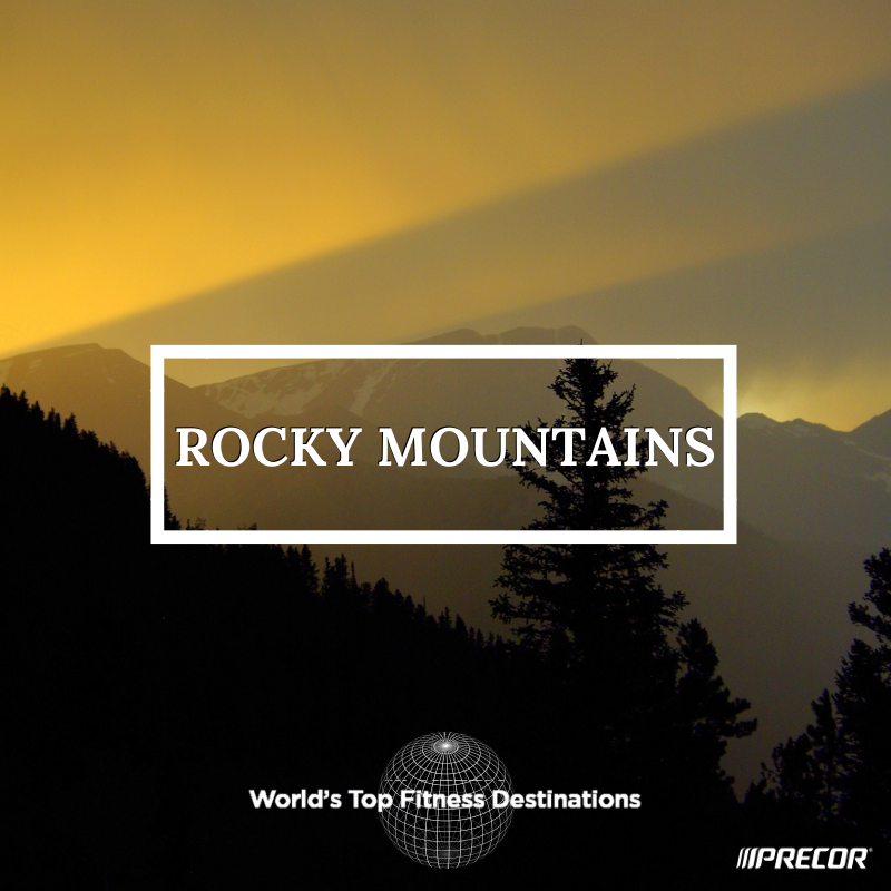Rocky Mountains fitness destination. Photo courtesy of Flickr user Adam Baker.