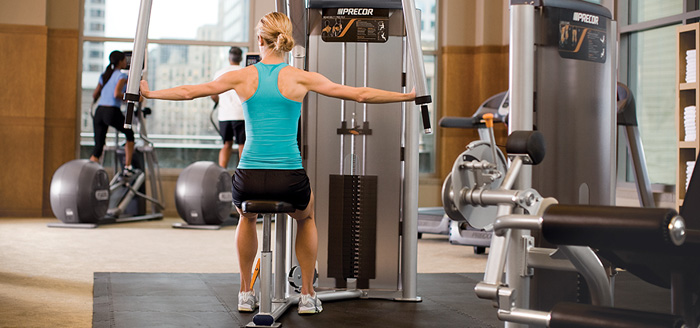 Commercial strength equipment for hotel gyms