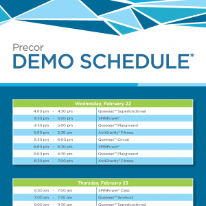 Precor at NIRSA 2017: Demo Schedule